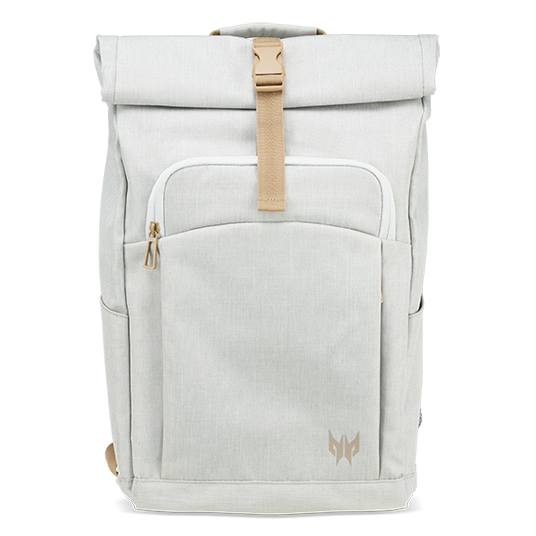 Rolltop Jr. Backpack White