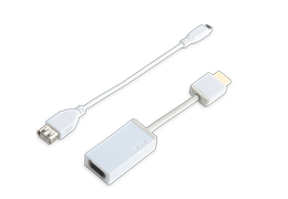 USB TO ETHERNET CONVERTER FOR TABLETS & NOTEBOOKS - WHITE