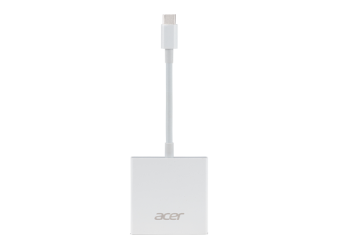 Acer 2-in-1 USB Type C to HDMI & VGA Dongle (Weiß)