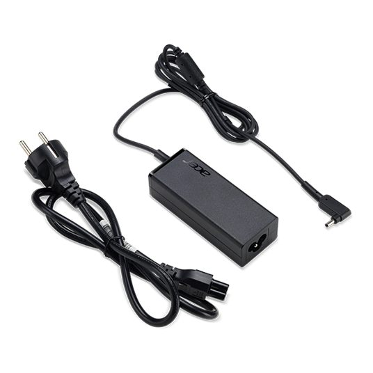 ADAPTOR 45W_3phy 19V Black EU and UK POWER CORD