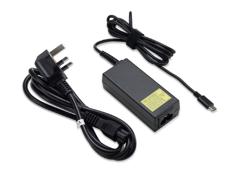 ACER ADAPTER 45W TYPE C APS613 LF BLACK PD2.0, UK POWER CORD