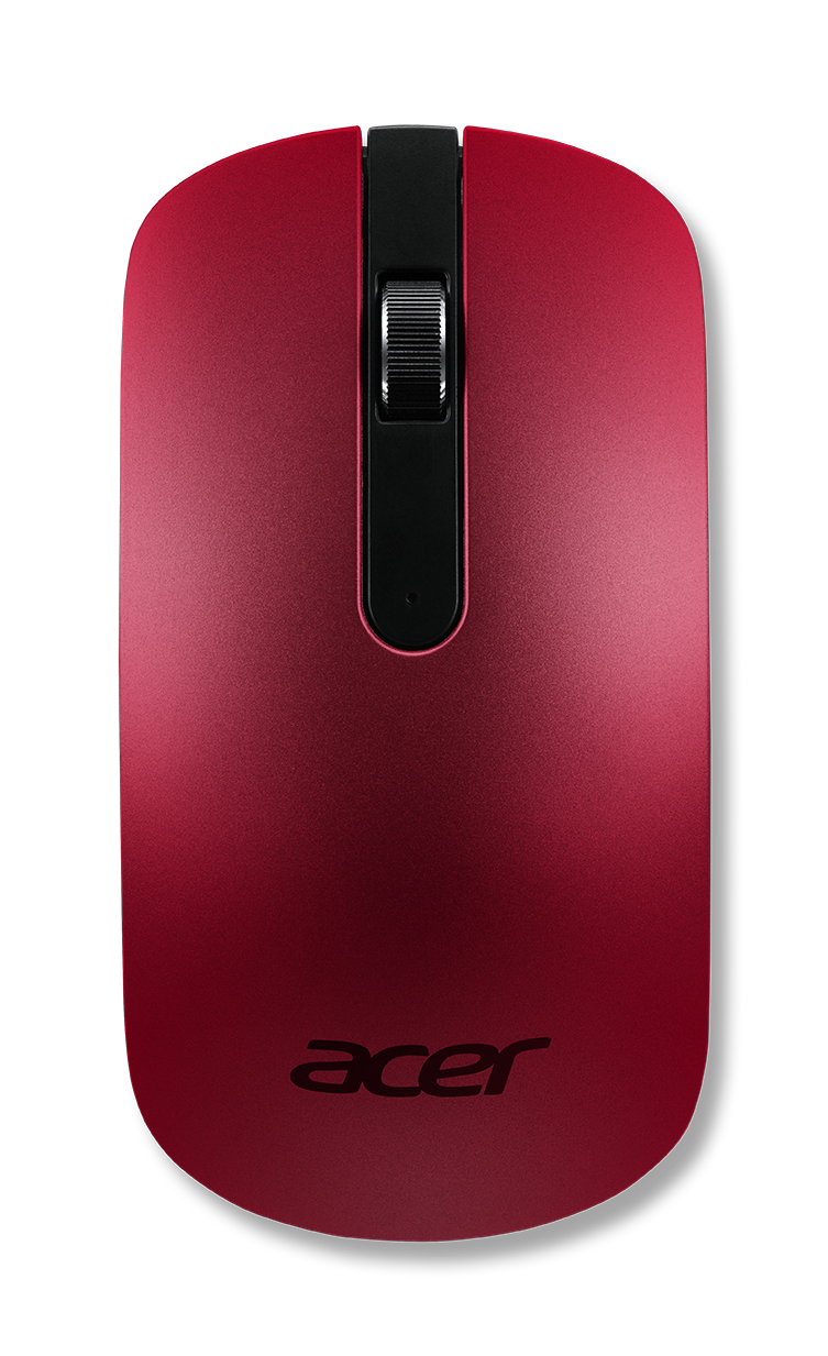 ACER THIN-N-LIGHT OPTICAL MOUSE, LAVA RED