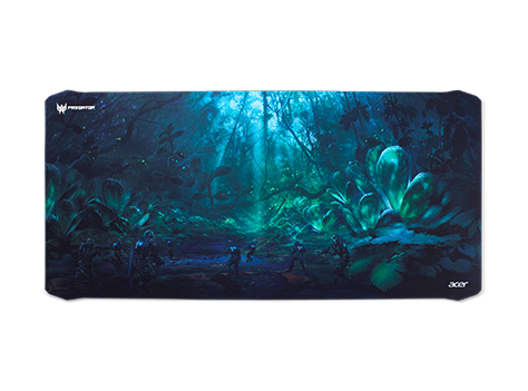 PREDATOR MOUSE PAD FABRIC AND RUBBER w AEGIS TECH. XXL SIZE WITH FOREST BATTLE