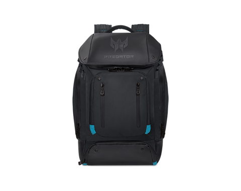 PREDATOR GAMING UTILITY BACKPACK BLACK w EAL BLUE ACCENTS PBG591 photogallery 01