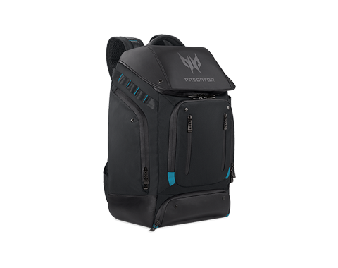 PREDATOR GAMING UTILITY BACKPACK BLACK w EAL BLUE ACCENTS PBG591 photogallery 02