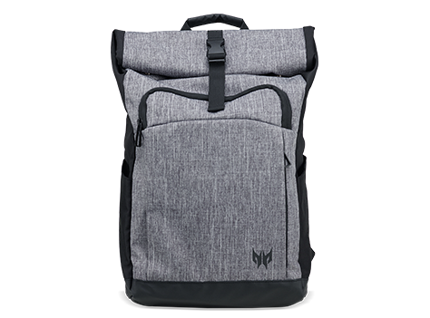 Predator Gaming Rolltop Junior Backpack Gray Black