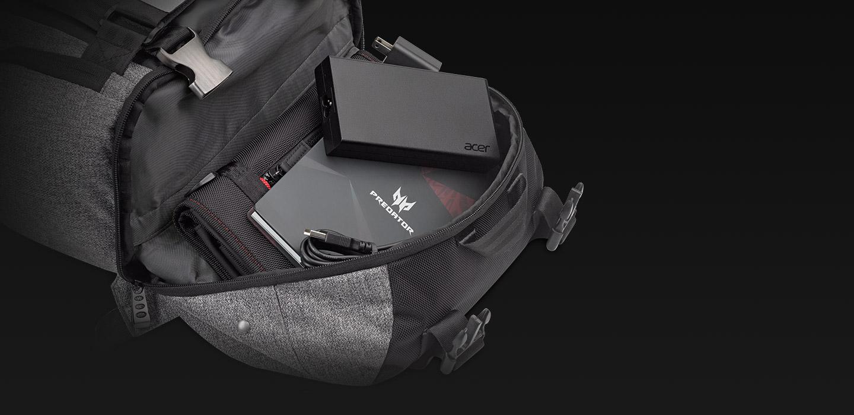 Predator Rolltop Backpack - The Hidden Pocket - ksp 04 desk