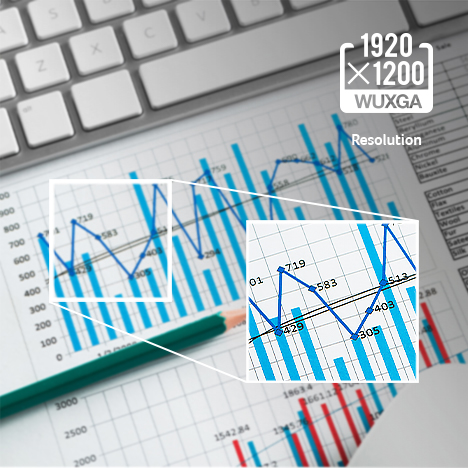 Up to 1920x1200 WUXGA Resolution