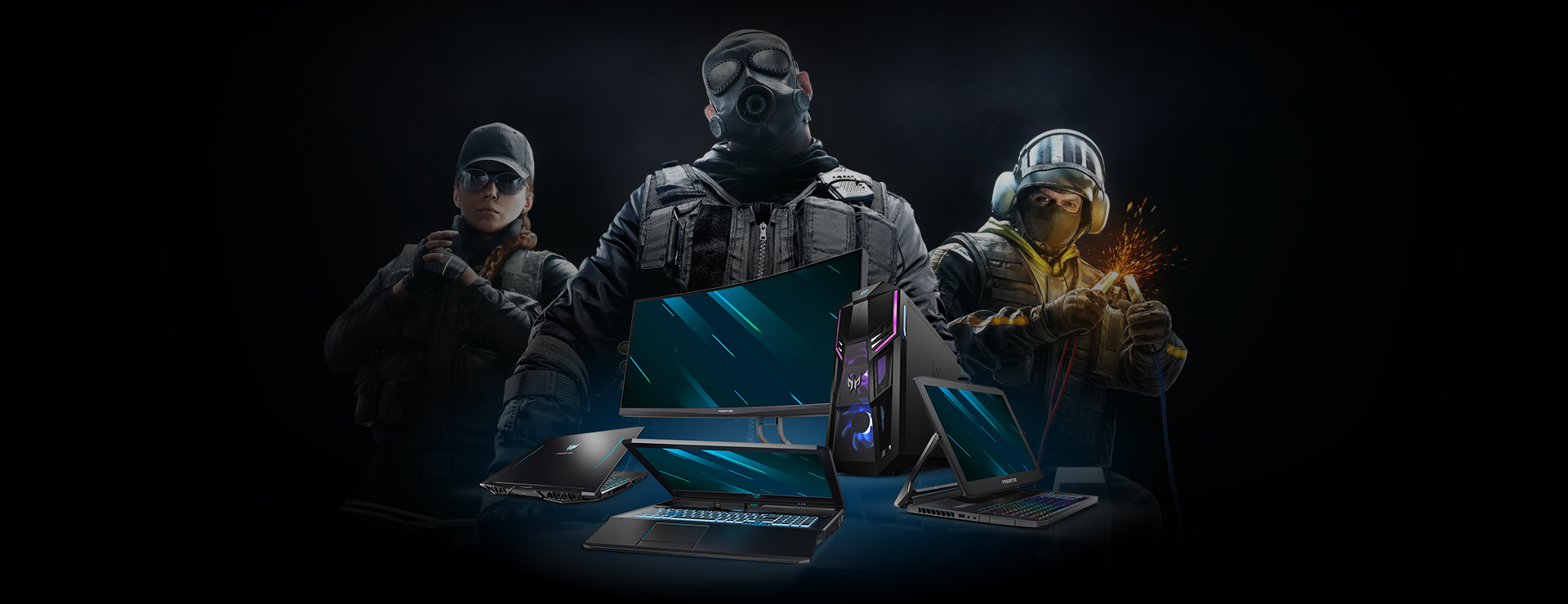 Official PC and Monitor Partner of Rainbow 6 Pro League and Majors