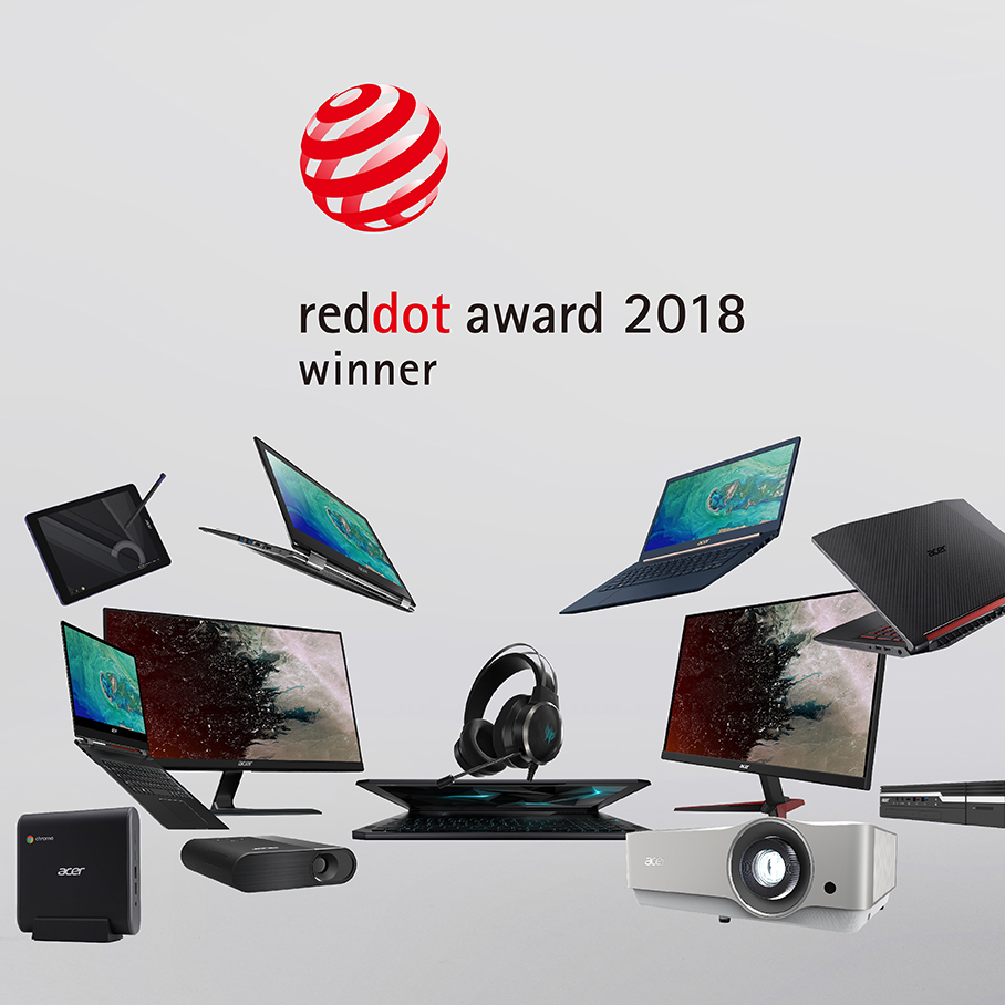 Acer Design - Reddot award 2018 - large