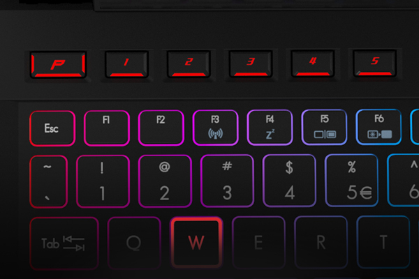 Predator ProZone RGB keyboard has customisable multi-coloured backlight zones, with 16 million colours to choose from, and programmable macro profiles you can share. A number pad and dedicated macro buttons give you the control you deserve.