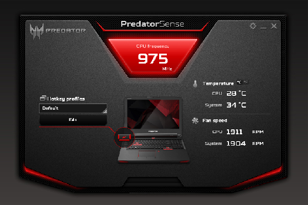 PredatorSense gives you access to gaming features like keyboard macro profiles you can switch between in-game, and adjustable lighting configurations.