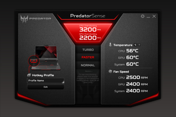 Keep track of system and processor temperatures as well as fan speeds, in real-time.