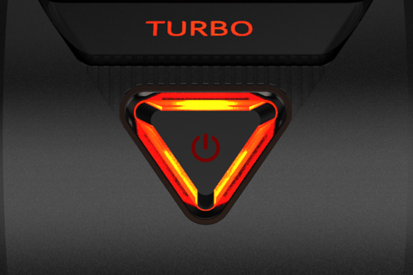 When you enter turbo mode, the Growl Lights come to life, providing an aggressive red accent on both sides of the case.