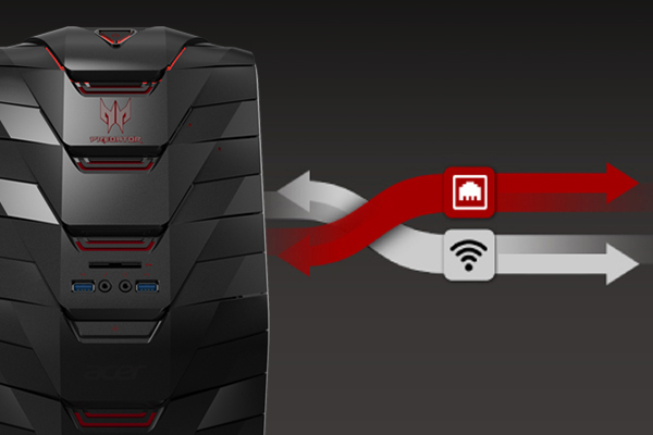 With Killer DoubleShotTM Pro technology, you can split your internet requirements over wired and wireless connections simultaneously to distribute your bandwidth where it's needed most.
