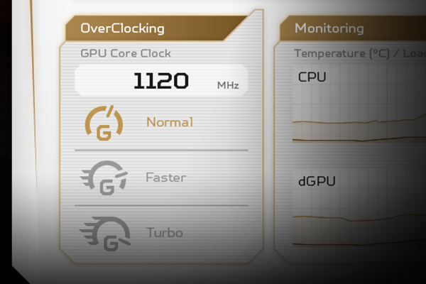 Give your game sessions some extra fuel via the overclocking feature in PredatorSense<sup>™</sup>.