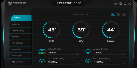 Predator Triton 500_AGW_07_Feature_PREDATORSENSE™_1_HOME MENU