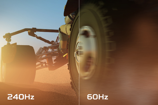 A high refresh rate allows you monitor to refresh images more quickly. Combined with a powerful GPU, they make for a seamless game experience.