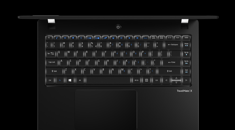 TravelMate X3 - Beleuchtete Tastatur - Large