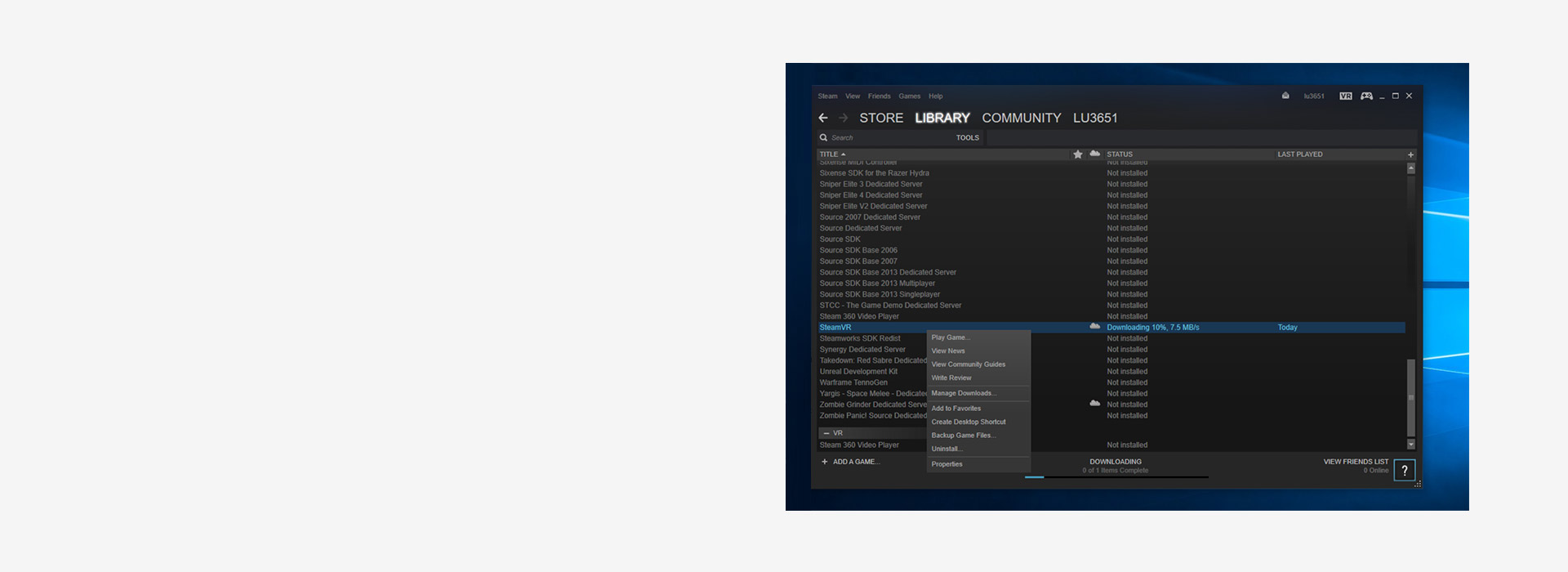 Step 3 – Join the SteamVR beta - Large