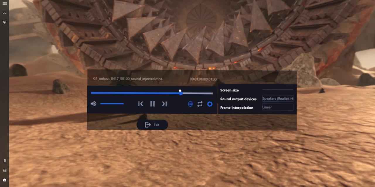 HoloReact Media Player