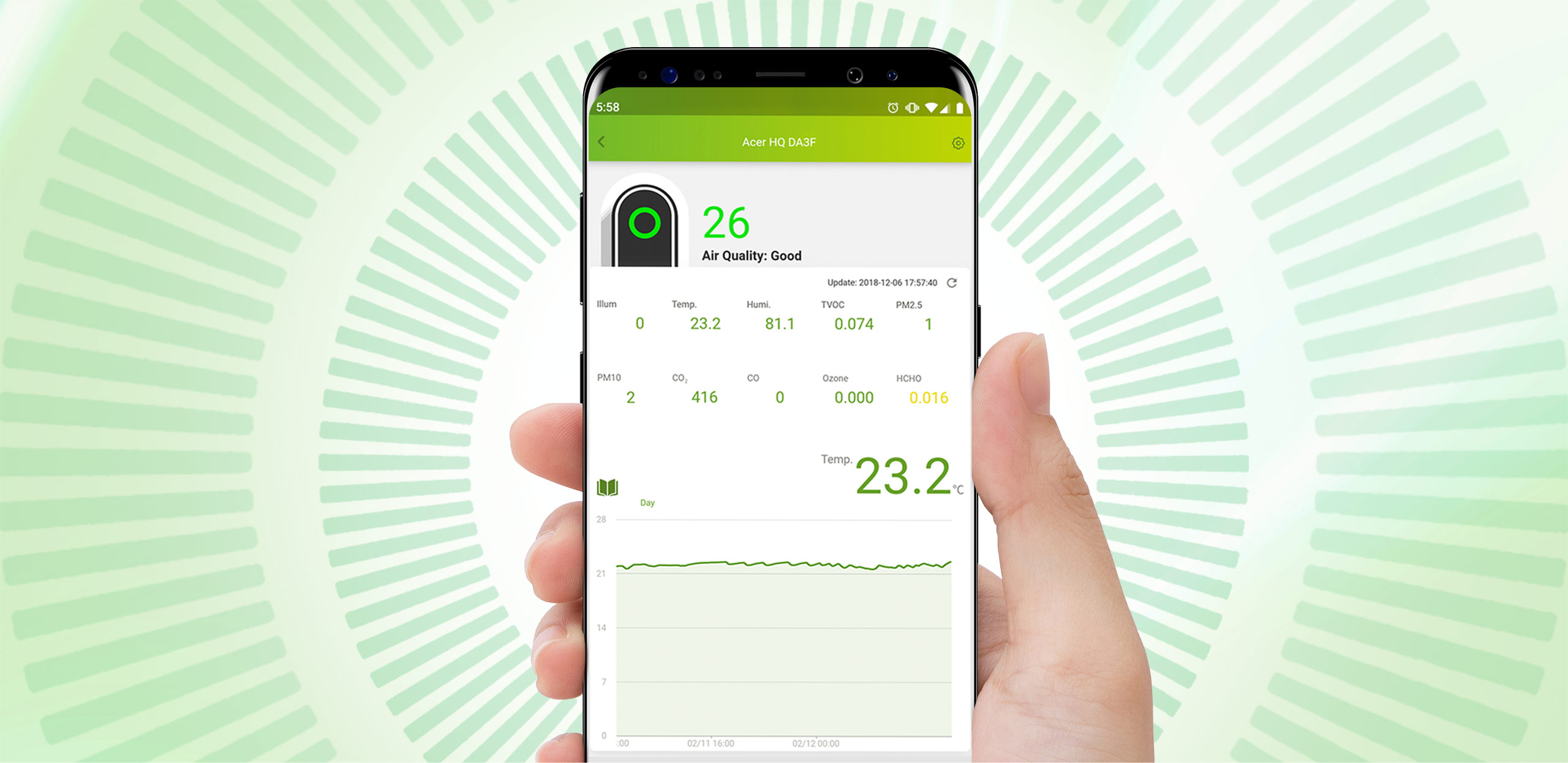 Air Monitor Pro Management App UI